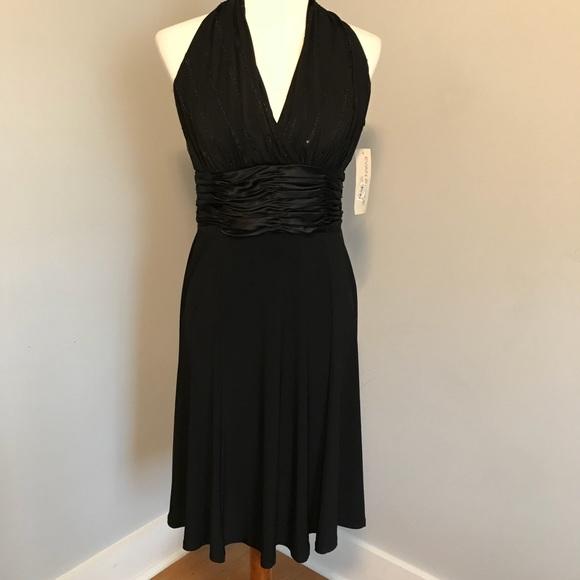 Evan Picone Dresses Nwt Black Halter Dress Poshmark